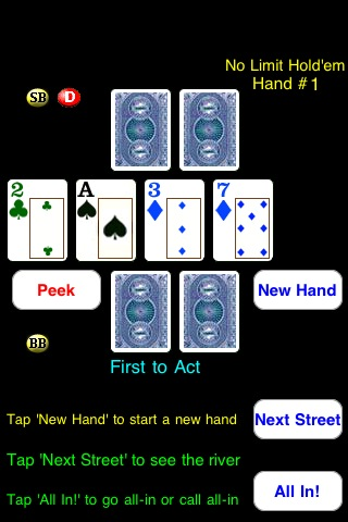 Screenshot Headsup Poker 3G Free (Texas Holdem & Omaha)